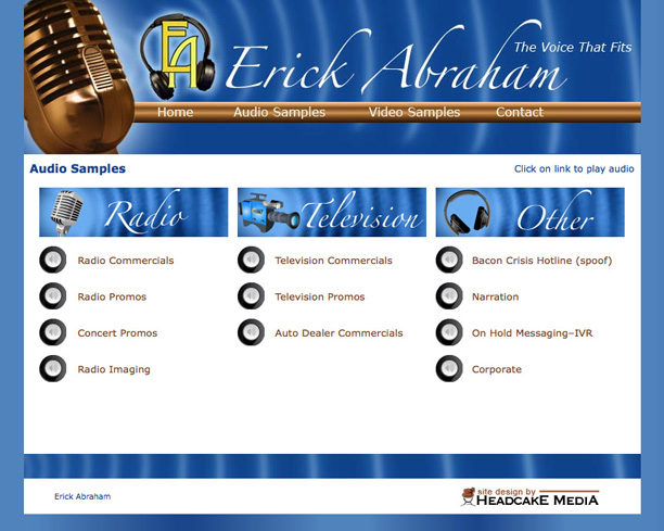 Erick Abraham Voice Over